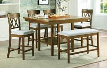 Homelegance 5716RFAK-36-S2-6PC 6 pc Darby home co Balin light oak finish wood counter height dining table set with bench