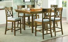Homelegance 5716RFAK-36-S2-7PC 7 pc Darby home co Balin light oak finish wood counter height dining table set