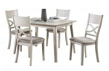 Homelegance 5739-5PC 5 pc Darby home co anderson antique white finish wood dining table set
