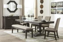 Homelegance 5741-94 6 pc Darby home co southlake wire brushed rustic brown finish wood dining table set with bench