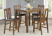 Homelegance 5746-36-5PC 5 pc Darby home co weston brown finish wood counter height dining table set