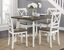 Homelegance 5777WH-5PC 5 pc Darby home co troy antique white and cherry finish wood dining table set