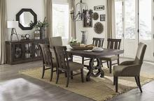 Homelegance HE-5799-86-7PC 7 pc Darby home co gloversville salvaged brown finish wood dining table set