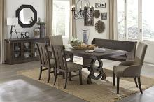 Homelegance HE-5799-86 6 pc Darby home co gloversville salvaged brown finish wood dining table set with bench