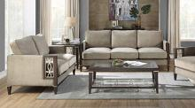 Acme 57990-91 2 pc Peregrine walnut finish wood velvet fabric sofa and love seat set