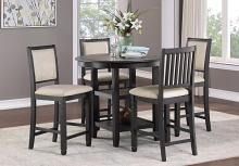 """Homelegance 5800BK-36 5 pc Canora grey asher brown and black finish wood 42"""" round counter height dining table set"""