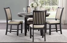 """Homelegance 5800BK-48RD 5 pc Canora grey asher brown and black finish wood 48"""" round dining table set"""