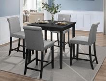 Homelegance 5801-36-5PC 5 pc Adina black finish wood counter height dining table set