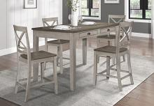 Homelegance 5803RF-36 5 pc August grove brightleaf two tone brown and light gray counter height dining table set
