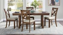Homelegance 5808-68-5PC 5 pc Canora grey bonner brown finish wood dining table set