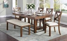 Homelegance 5808-68-6PC 6 pc Canora grey bonner brown finish wood dining table set with bench
