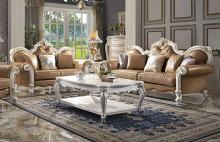 Acme 58210-11 Astoria Grand picardy antique pearl finish wood carved accents sofa and love seat set