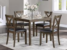 Homelegance 5838CH-5P 5 pc Darby home co hazel charcoal brown finish wood dining table set