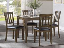 Homelegance 5839CH-5P 5 pc Darby home co hazel charcoal brown finish wood dining table set