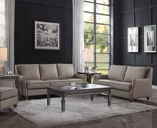 Acme 58860-61 Astoria Grand House Marchese tan faux leather tobacco finish wood sofa and love seat set