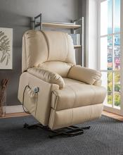 Acme 59286 Ixora beige faux leather electric lift recliner with massage