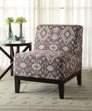 Acme 59503 Hinte geometric pattern fabric accent chair with wood legs