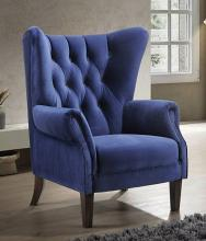 Acme 59519 Kelly clarkson home Jayla adonis navy blue velvet fabric wing back accent chair