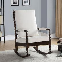Acme 59523 Highland dunes soderquist walnut finish wood curved spindled design back rocking chair