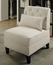 Acme 59611 Corrigan sherborne susanna cream linen like fabric accent chair with wood legs