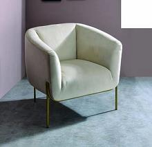 Acme 59792 Everlyn quinn fino carlson beige velvet fabric accent chair with gold tone legs