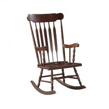 Acme 59934 Raina espresso finish wood curved spindled design back rocking chair