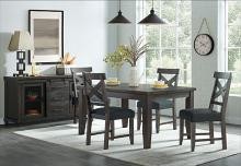 VH-9800-5PC 5 pc Gracie oaks industrial charms charcoal grey finish wood dining table set