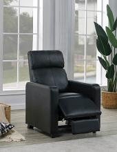 600181 Latitude run schaller black faux leather push back recliner chair