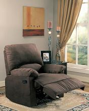 600266 Casual chocolate microfiber fabric overstuffed recliner chair