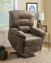 601025 Red barrell studio coman brown sugar textured champion microfiber power lift recliner chair