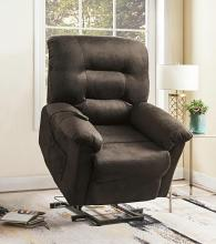601026 Ebern designs Mabel chocolate textured champion microfiber power lift recliner chair