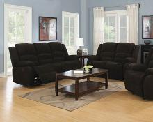 601461 2 pc Red barrel studio Gordon chocolate brown chenille reclining sofa and love seat set