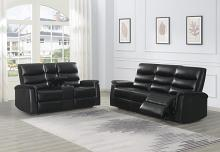 601514-15 2 pc Canora grey amidon Dario black leatherette reclining sofa and love seat set