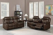 603021 2 pc Darby home co myleene chestnut faux leather reclining sofa and love seat set