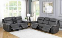 603514PP 2 pc Red barrel studio wixom charcoal faux suede power motion sofa and love seat set