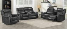 609321PPI 2 pc Latitude run shallowford charcoal top grain leather power motion sofa and love seat set