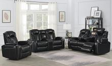 609461PPI 2 pc Latitude run bismark black top grain leather power motion sofa and love seat set