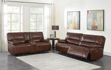 610411P 2 pc Orren ellis Southwick brown top grain leather power motion sofa and love seat set