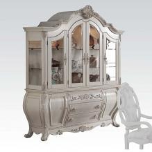 Acme 61284 Astoria grand roudebush ragenardus antique white finish wood curio china cabinet hutch and buffet