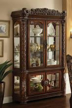Acme 62023 Vendome cherry finish wood glass front curio china cabinet