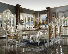 Acme 63460-62-63 7 pc Astoria grand penaflor picardy antique pearl & cherry finish wood dining table set
