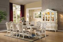 Acme 63540-42-43 7 pc chantelle pearl white finish wood dining table set