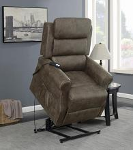 650313 Red barrel studio Alexandera brown coated microfiber large power lift recliner chair