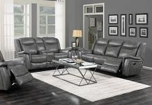 650354P-55P 2 pc Nickelson red barrel studio gray breathable leatherette power motion sofa and love seat set