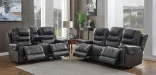 650407PP 2 pc Strick & Bolton celine north grey top grain leather power motion sofa and love seat set