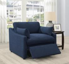 651552P  Red barrel studio destino midnight blue linen like fabric power motion recliner chair