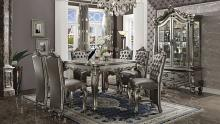 Acme 66835-37 7 pc Astoria grand merrydale versailles antique platinum finish wood counter height dining table set