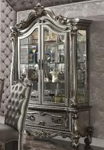 Acme 66838 Versailles antique platinum finish wood curio china cabinet