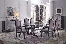Acme 68810-12-13 7 pc House Beatrice charcoal and light gray finish wood dining table set