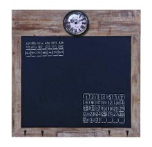 Lisa Square Black Board With Clock And Calendar